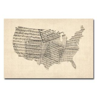 @Overstock - Michael Tompsett 'USA - Old Sheet Music Map' Canvas Art - Artist: Michael TompsettTitle: USA - Old Sheet Music MapProduct Type: Gallery-wrapped canvas art   http://www.overstock.com/Home-Garden/Michael-Tompsett-USA-Old-Sheet-Music-Map-Canvas-Art/7569608/product.html?CID=214117 $44.99