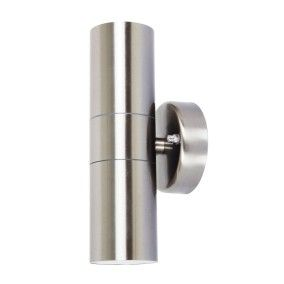 Lucci Project Up/Down Exterior Wall Bracket in Stainless Steel
