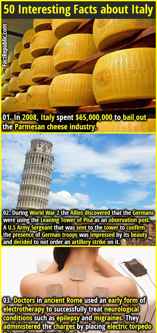 50 Interesting Facts About Italy
