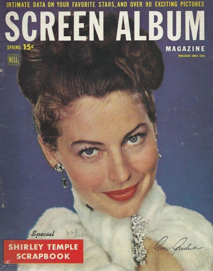 1949 DELL SCREEN ALBUM SHIRLEY TEMPLE AVA GARDNER MOVIE CELEBRITY MAGAZINE BOOK
