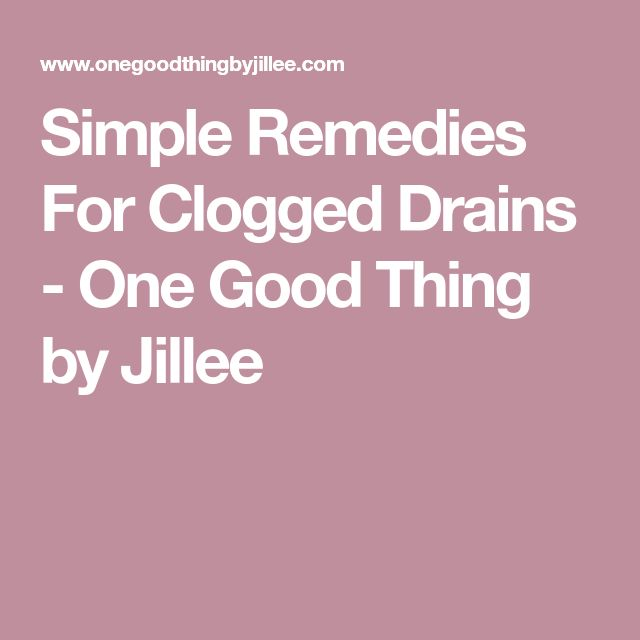 Simple Remedies For Clogged Drains