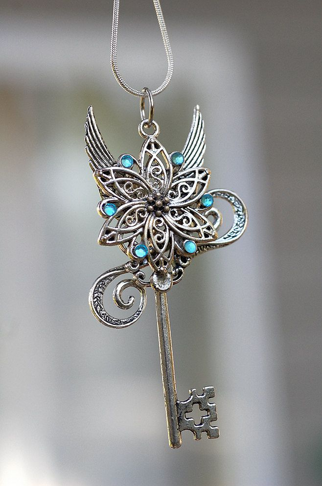 Celtic Flower Key Necklace. $35.00, via Etsy.