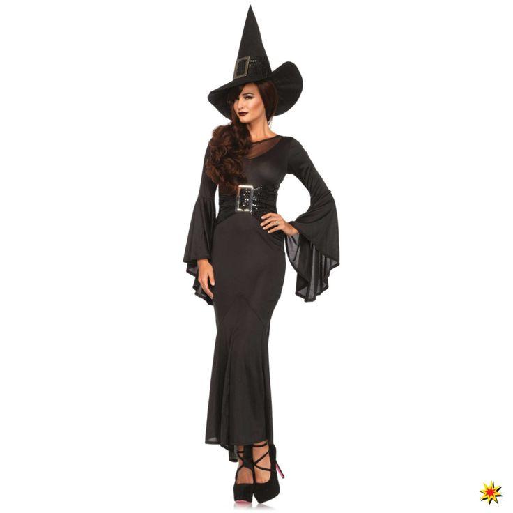 Kostüm sexy Hexe schwarz Witch Fasching Halloween Märchen Walpurgisnacht Karneval Krause&Sohn S/M, M/L kaufen