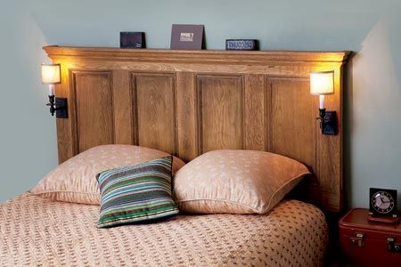 Photo: Kristine Larsen | thisoldhouse.com | from How to Turn an Interior Door into a Headboard