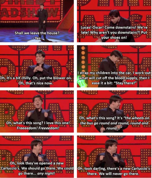 When he summed up the difference in the lives of people with and without kids. | 19 Times Michael McIntyre Was Actually Really Fucking Funny