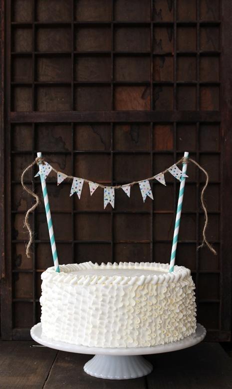 washi tape cake bunting