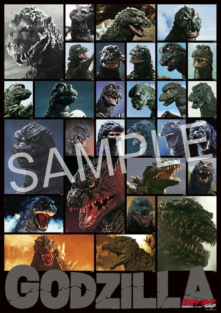 Godzilla over the years and different incarnations of Godzilla in the Godzilla franchise.