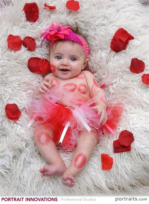Newborn valentine pictures baby photography