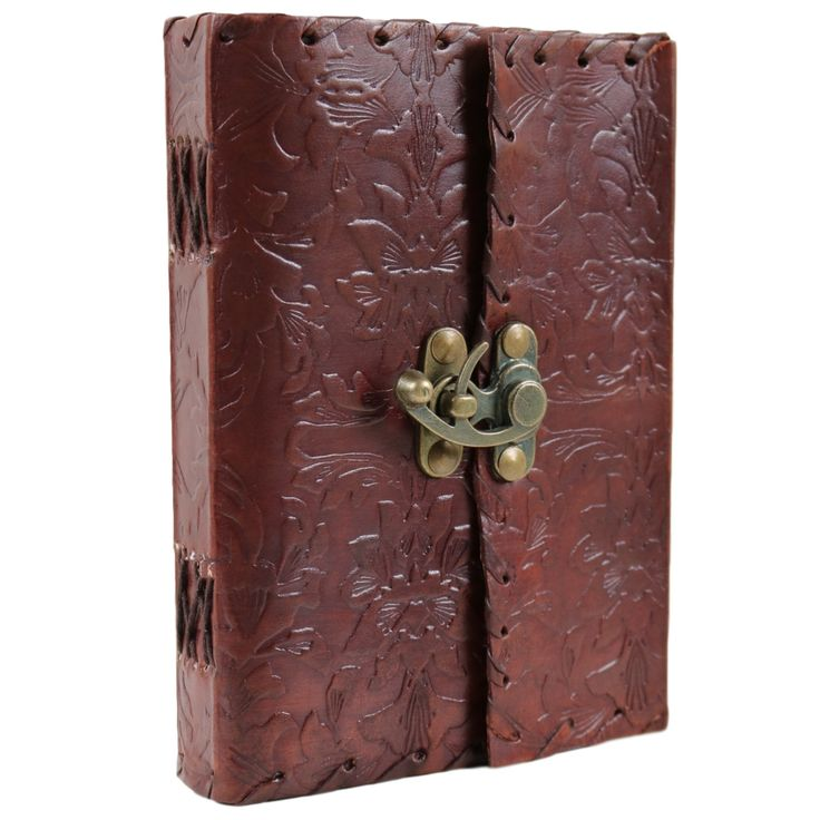 Floral Leather Bound Journal