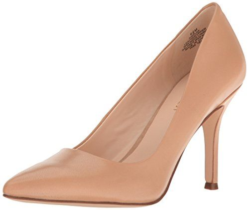 Nine West Women's Flax Leather Dress Pump, Light Natural, M US. Featured in  Black. Patent leather or leather upper.