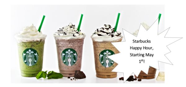 Starbucks Frappuccino Happy Hour: 1/2 Price Frappuccinos Starting May 1st!