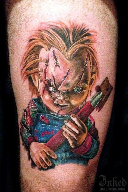 Realistic Coloring Of Chucky: 78+ Images About Awesome Horror Tattoos On Pinterest