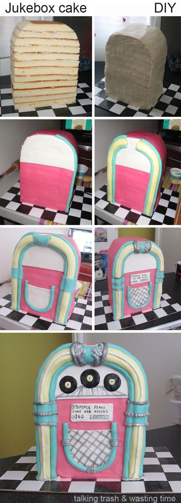 Jukebox cake. . . That's just too cool I want to make this someday :D
