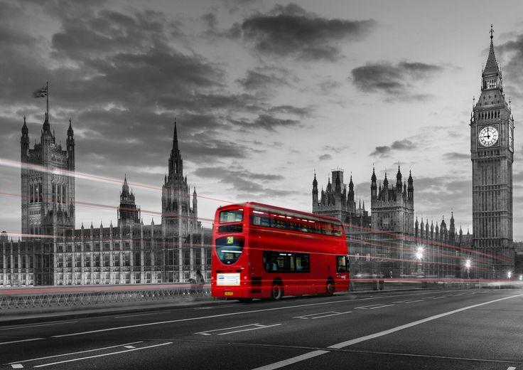 Постер лондонский автобус