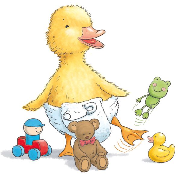 quot duckling with toys quot  by robin davies  who doesn t love a baby shower diaper clipart baby diaper clip art free