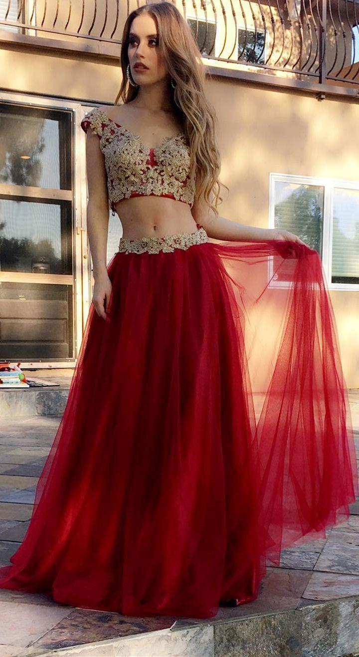 Two peice prom dresses 92a2e285998c