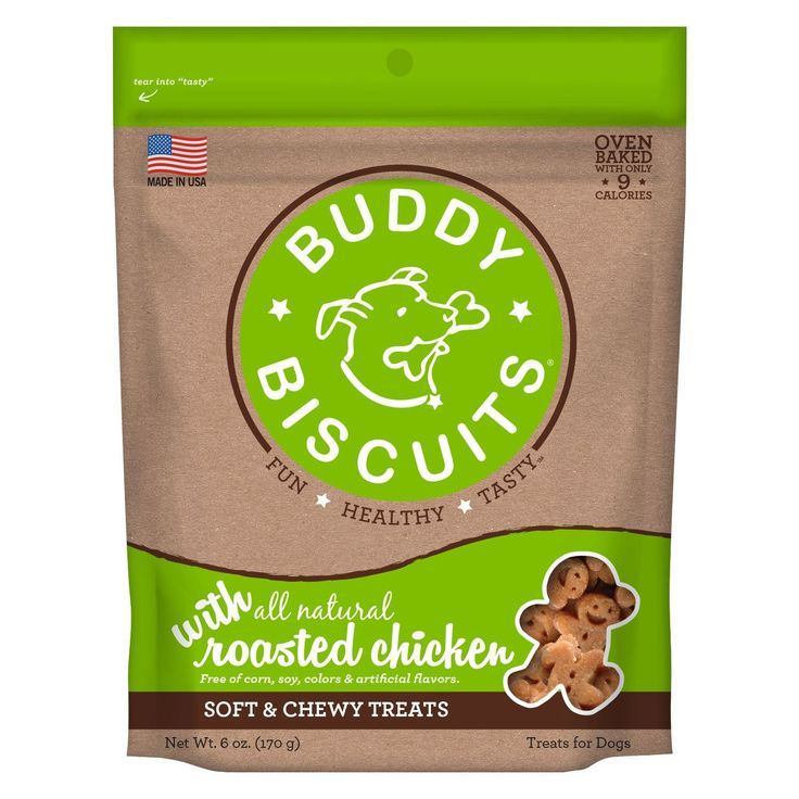 Buddy Biscuits CS-17300 Original Soft and Chewy Dog Treats Roasted Chicken 6 ounces