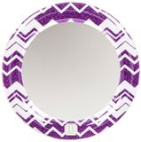 Save a little space in your locker design for this pretty, purple glitter chevron locker mirror. Mix-and-match with frames, wallpaper, lights, and more ...