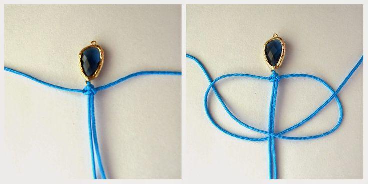 happy girly crafty: Macrame glass connector bracelet DIY / Πως να φτιάξεις βραχιόλια μακραμέ! (οδηγίες βήμα-βήμα)