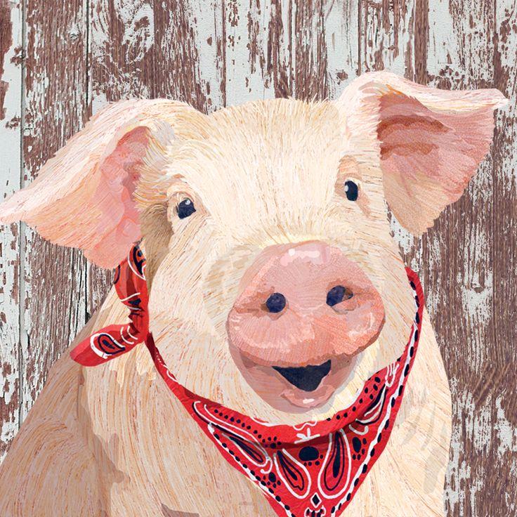 Charlotte Napkin 33x33 cm #ppd #paperproductsdesign #design #designer #twocanart #pig #schwein #animal #tier #napkin #serviette