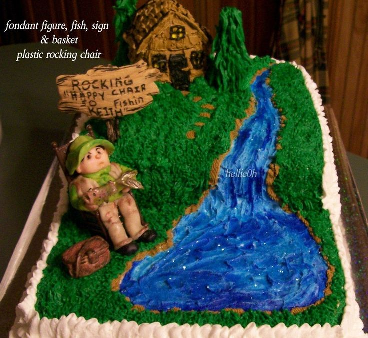 66 Best Images About Fishing Themed Cakes On Pinterest