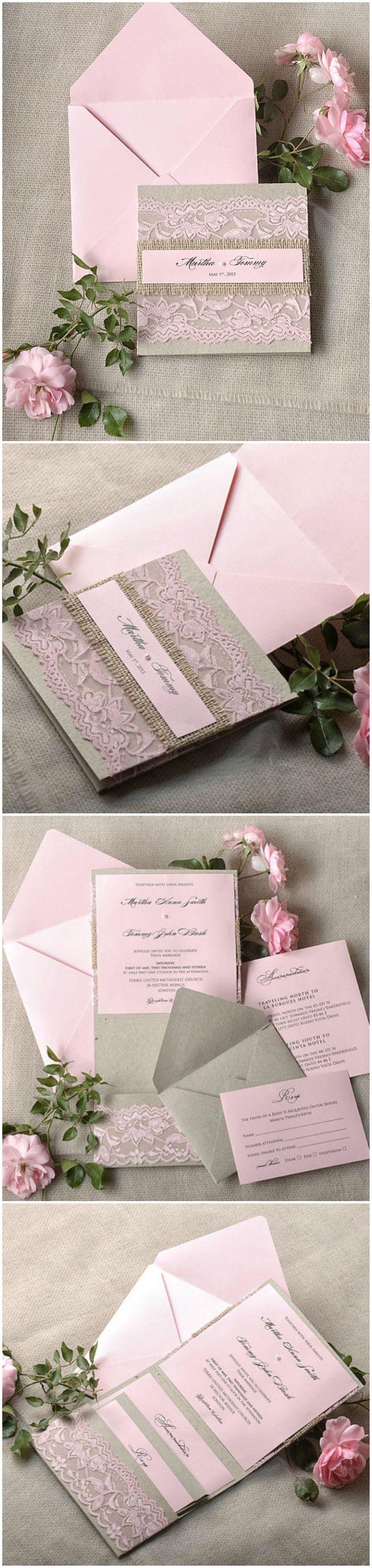 210 best wedding invitations images on pinterest diy wedding wedding invitations lace stopboris Images