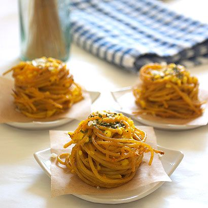 Spaghetti and Cheese Nests | Recipe on FamilyFreshCooking.com
