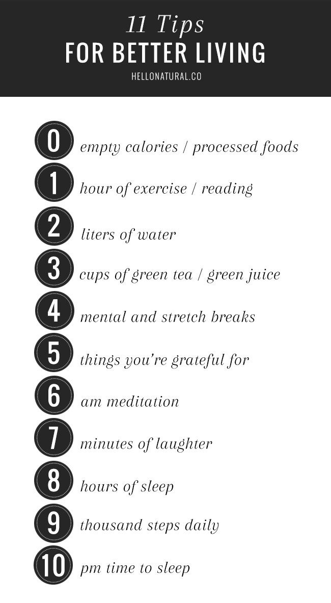 11 Healthy Habits for Better Living- interesting infographic!