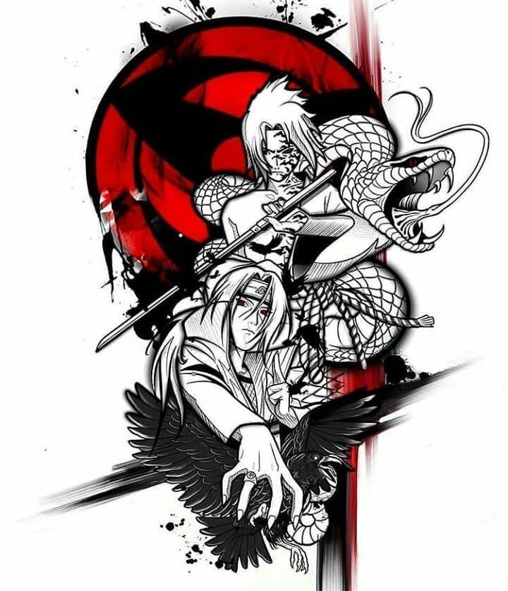 New Design Credit Lourdes Tattoo Follow Me And Tag Your Otaku Friends To The Best Anime Tattoo Accou Anime Tattoos Sasuke And Itachi Itachi Uchiha Art