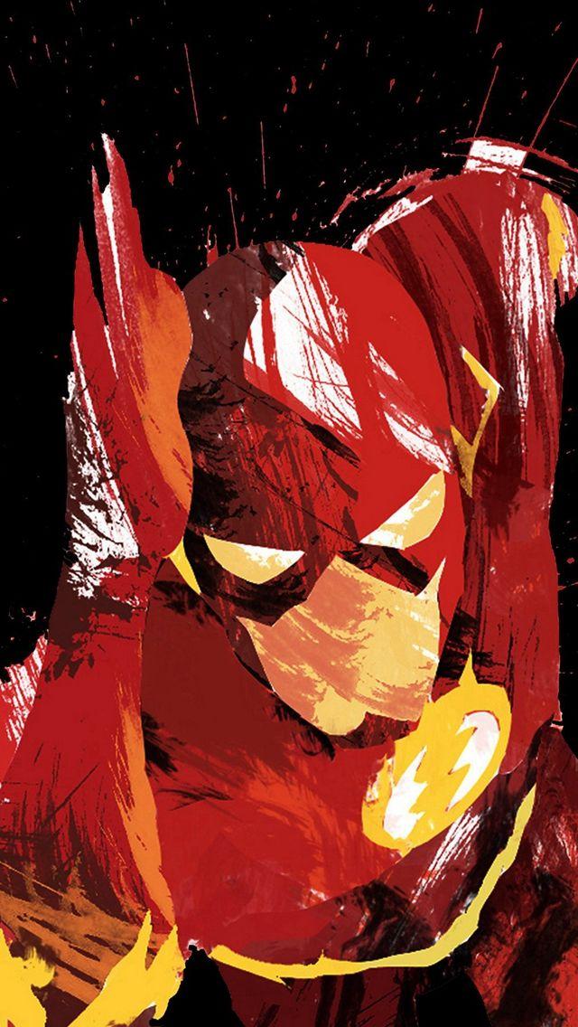 Flash Speed Dark Hero Illust Minimal Art #iPhone #5s #wallpaper