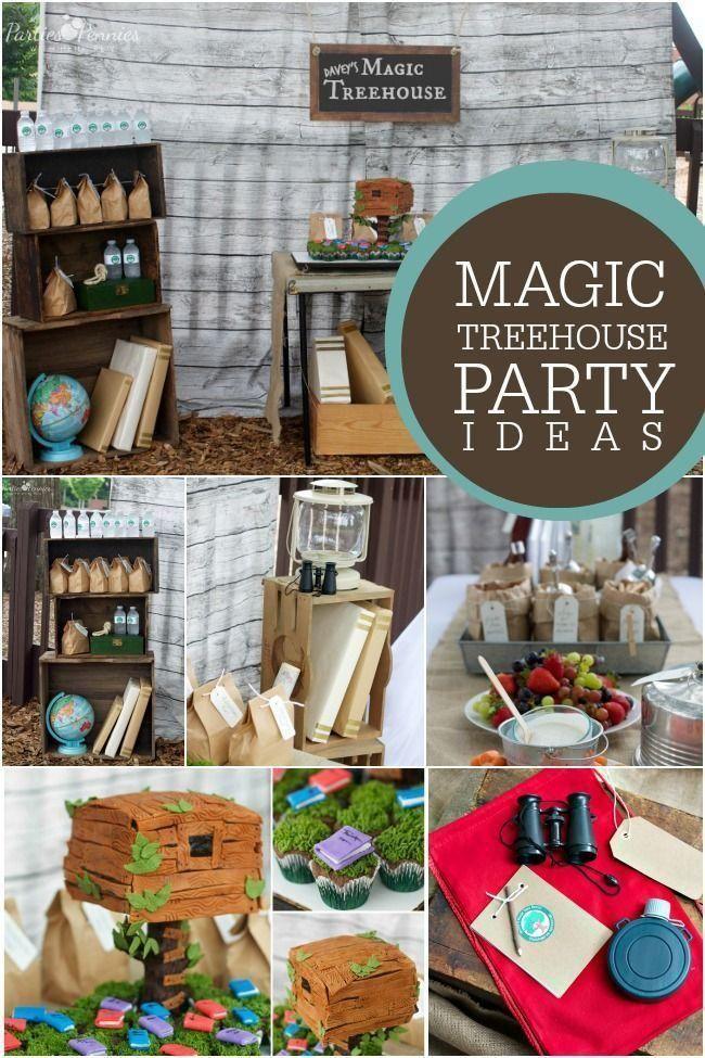 Boy S Magic Treehouse Birthday Party Ideas Magic Treehouse Camping Birthday Party Book Birthday Parties