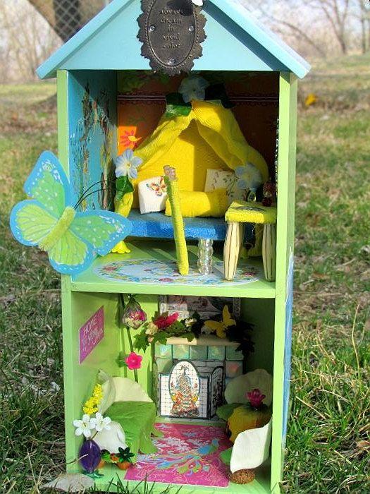 Vivid Recycled Fairy Doll House