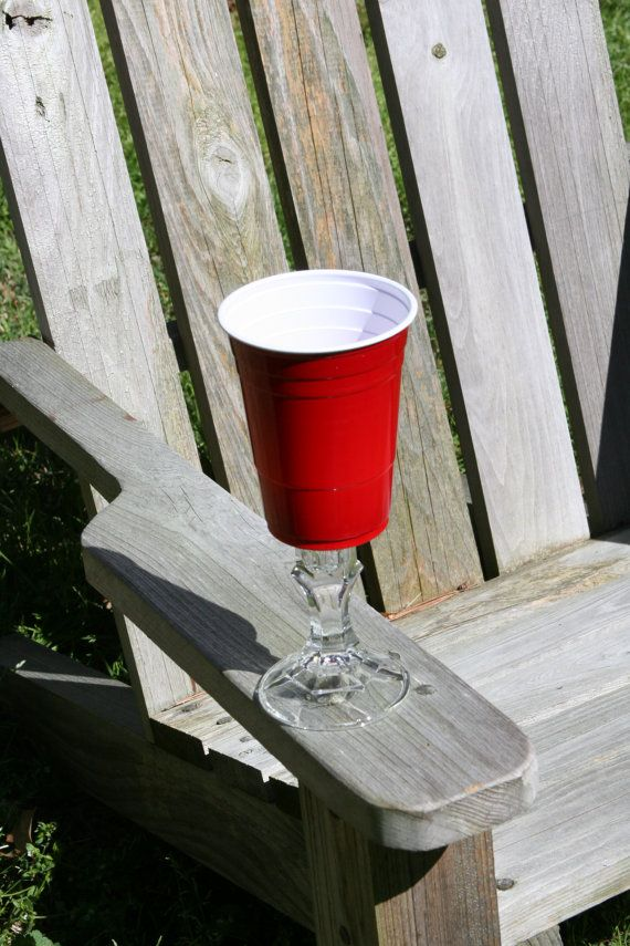 A Redneck Red Solo Cup Wine Glass by DoorDecorbyDiane on Etsy now