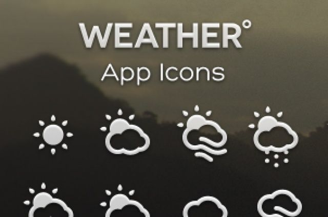 A set of 30 weather icons that can be used in your app or website project. Two different styles are available...