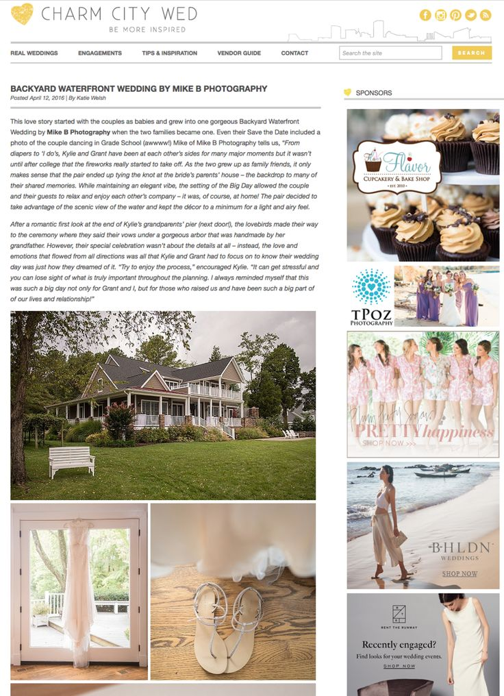 We have been featured in Charm City Wed!https://www.pinterest.com/mikebusada/