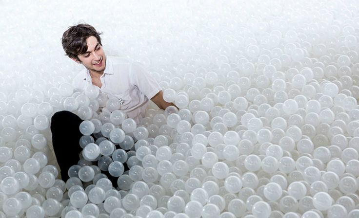 This Massive Ball Pit 'Beach' Is Made for Art-Loving Kidults