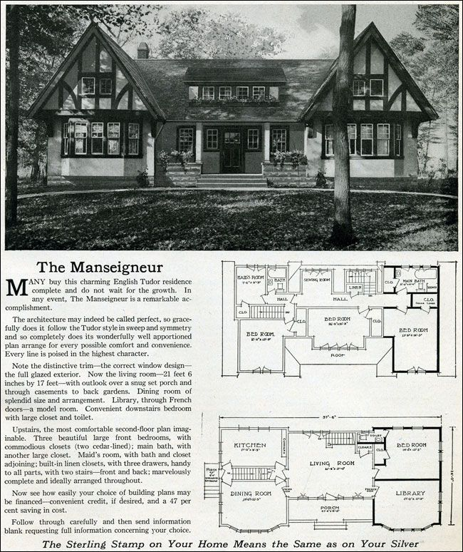 1916 Sterling System Homes- Manse & Maseigneur. Rather neat design.