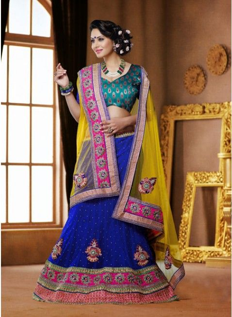 Vivacious Blue color Net Based #Lehenga Choli