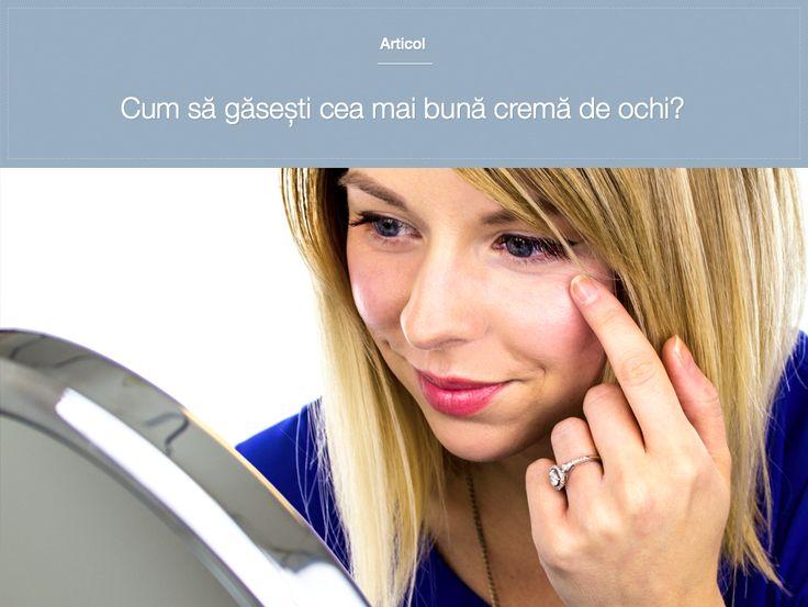"""Adesea cremele pentru ochi sunt etichetate ca fiind """"special formulate"""" pentru zona sensibilă cu piele subțire din jurul ochilor sau pretind că te vor scăpa de pungile de sub ochi, de cearcăne și de pielea lăsată, însă știai că de fapt nu există studii care să indice că pielea din jurul ochilor are nevoie de îngrijire specială față de restul feței?  Află tot ce trebuie să știi atunci când alegi de o cremă / tratament pentru zona ochilor."""
