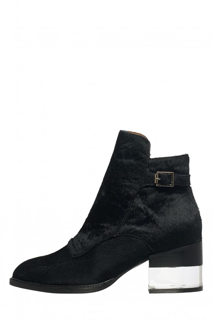 Jeffrey Campbell Shoes LETO-F Booties in Black Hair #need