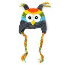 Dětské klobouky pro 0-18M módní Novorozené dítě Hat Infant batolata pletený háčkování Newborn fotografie rekvizity kostým Owl zimní čepice A02 (Čína (pevninská část))