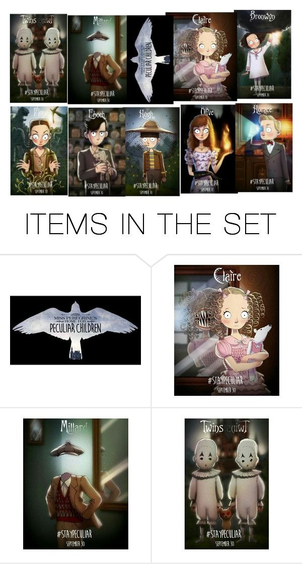 """The Rest of the Peculiar Children"" by emily-dickson-1 ❤ liked on Polyvore featuring art and Missperegrineshomeforpeculiarchildren"