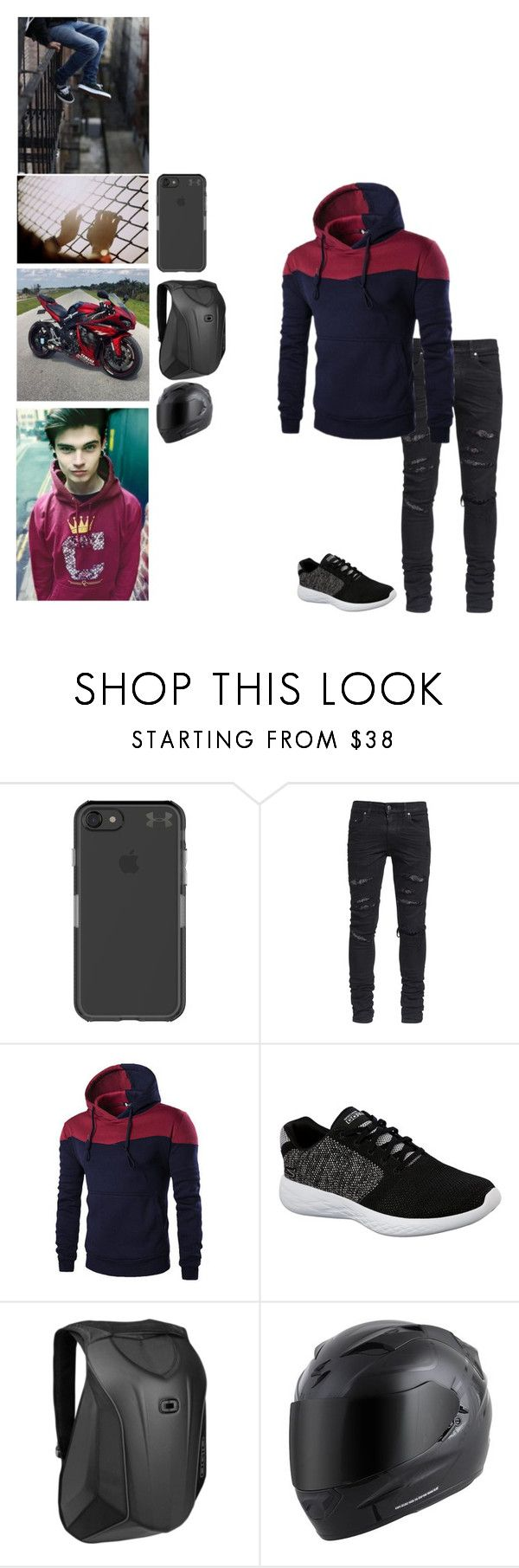 """""""Chris (Troy's Friend)"""" by bumble-bucky ❤ liked on Polyvore featuring Under Armour, AMIRI, Skechers and OGIO"""