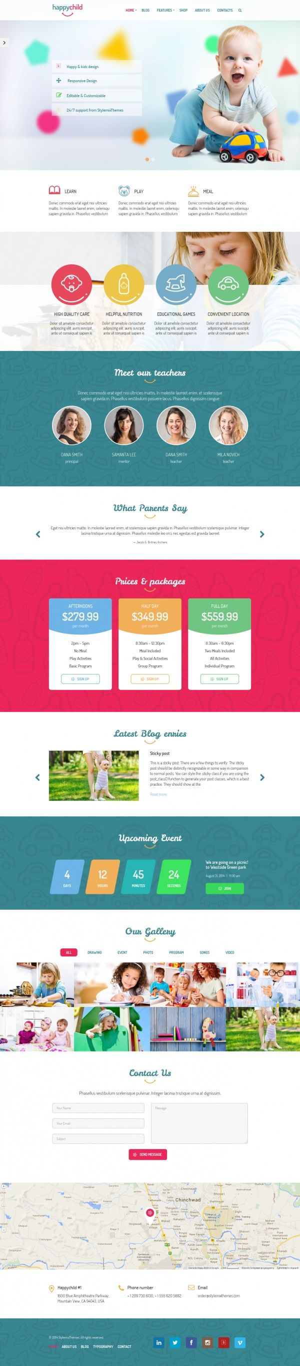 HappyChild Kids WordPress Theme