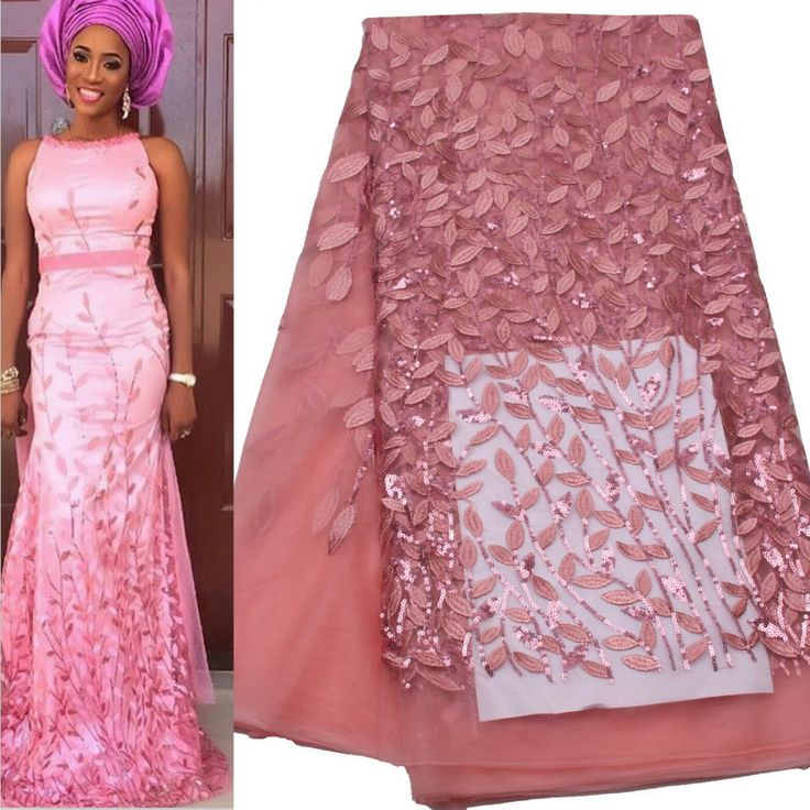 2016 High Quality African Lace Fabrics/French Net Embroidery Sequins Tulle Lace Fabric For Nigerian Wedding Dress AMY125B 1-in Lace from Home & Garden on Aliexpress.com | Alibaba Group