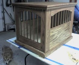 how to build dog crate end table - Google Search
