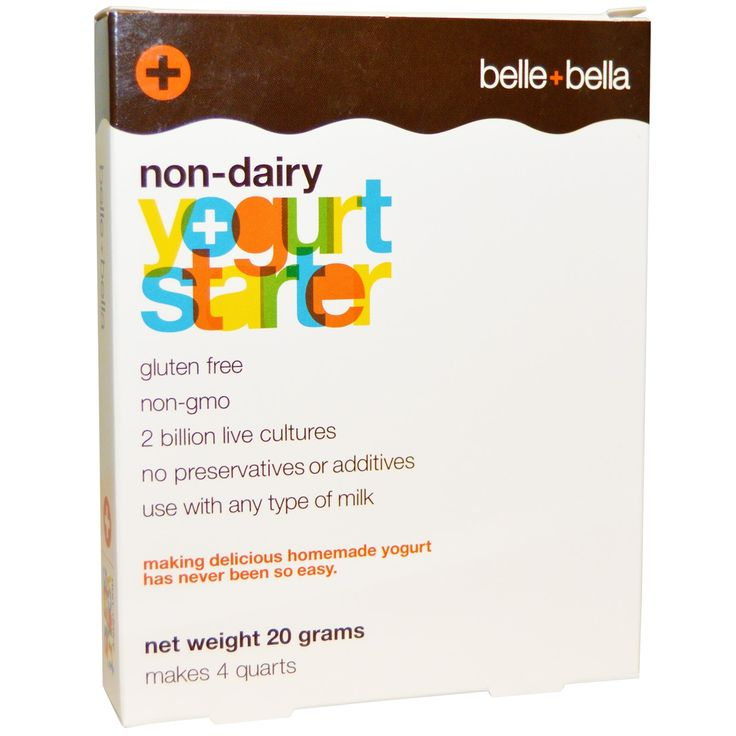 Belle Bella, Non-Dairy Yogurt Starter, 4 Packets, (5 g) Each