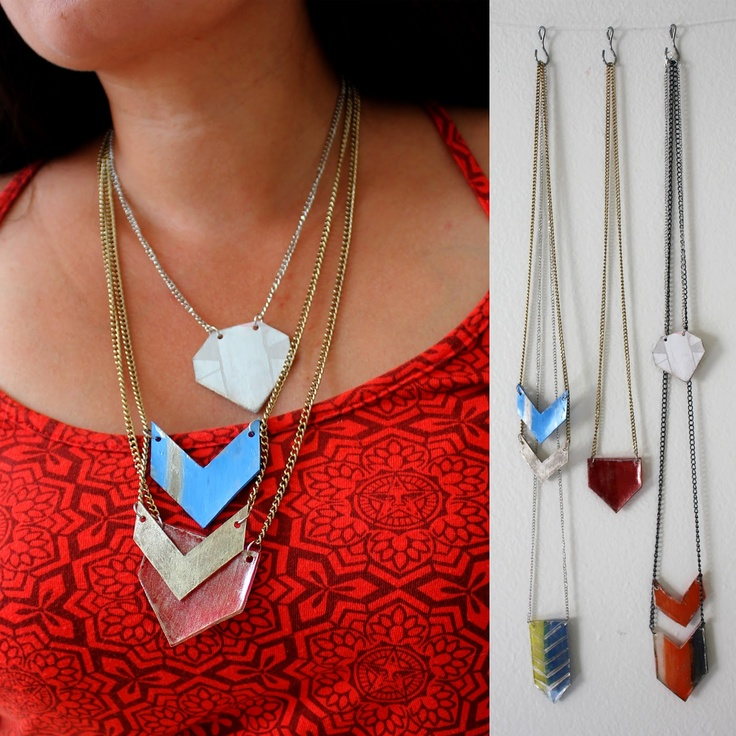 99 best diy shrink plastic images on pinterest shrinky dinks shrink plastic geometric pendants tutorial mozeypictures Gallery