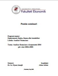Analiza financiare e korporatës IBM për vitet 2006-2008 analiza_financiare_ibm – Fjala Ime