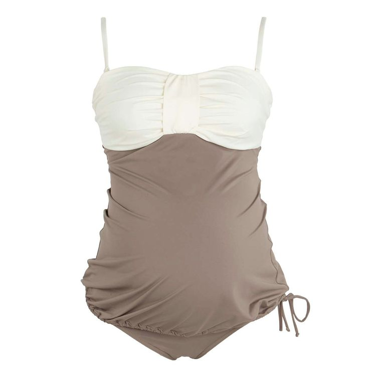 The Eden is an elegant maternity swimwear with attention to fashion and comfort. Perfectly designed for the pregnant mom and her growing belly. - Two-piece maternity tankini with fully lined cups that
